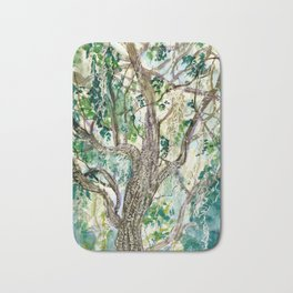 Oak Tree with Spanish Moss Bath Mat