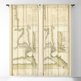 Plan de la riuiere de Suriname (1713) Blackout Curtain