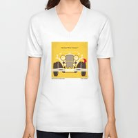 fitzgerald V-neck T-shirts featuring No206 My The Great Gatsby minimal movie poster by Chungkong
