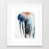 walrus Framed Art Prints featuring Walrus by Slaveika Aladjova