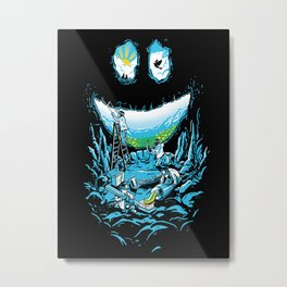 Cave-ities Metal Print