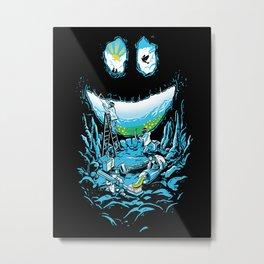 Cave-ities Metal Print