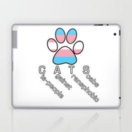 Cis-people Against Transphobia (CATS v2) Laptop & iPad Skin