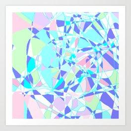 Pastel Mosaic Art Print