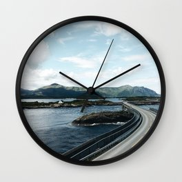 the atlantic road in Norway Wall Clock