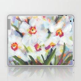 Little White Daffodils Laptop & iPad Skin