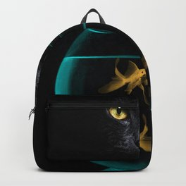 Black Cat Goldfish Backpack