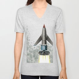 Thunderbird 1 Space Rocket Launch Unisex V-Neck