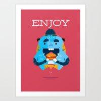 :::Enjoy Monster::: Art Print