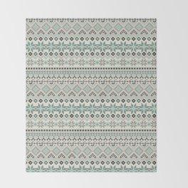 V40 Boho Vintage Anthropologie Pattern Throw Blanket