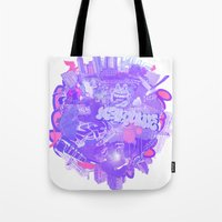 melbourne Tote Bags featuring 002- Melbourne by Nick Cocozza