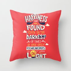 Dark and Light Throw Pillow