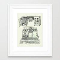 kitchen Framed Art Prints featuring Kitchen by piankaB