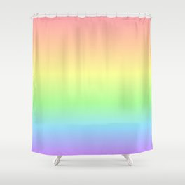 Pastel Rainbow Gradient Shower Curtain