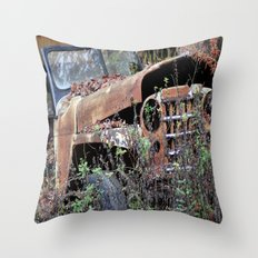 Vintage Jeep Throw Pillow