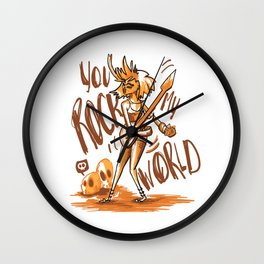 You Rock My World! Wall Clock