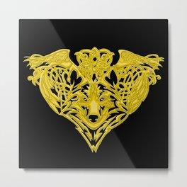 Wolf Raven Metal Print