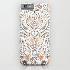 Rose Gold Folklore Pattern iPhone 6s Slim Case