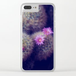 Little Cactus Flowers Clear iPhone Case