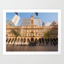 Sydney Cenotaph and Historic GPO Building, Martin Place, Sydney Art Print