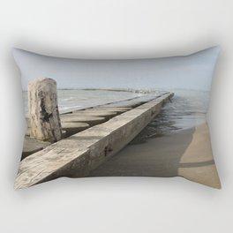 The wooden breackwater Rectangular Pillow