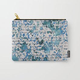 Blue and Emerald Splatter Carry-All Pouch