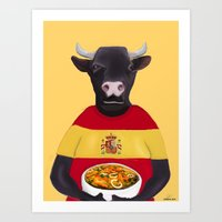 spanish Art Prints featuring The Spanish by Dano77