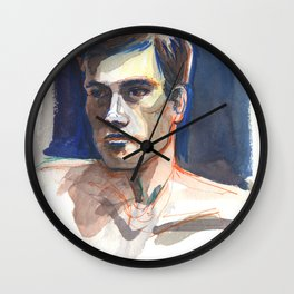 JAMES, Semi-Nude Male by Frank-Joseph Wall Clock