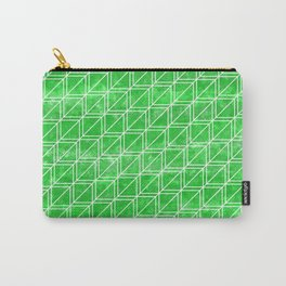 Green Geometric Pattern Carry-All Pouch