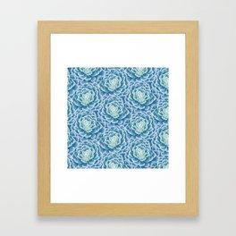 Pattern Succulent Framed Art Print