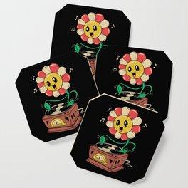 Vinyl Flower Coaster