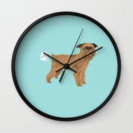 Brussels Griffon dog breed funny dog fart Wall Clock