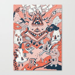 Lif Skogur Canvas Print