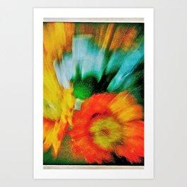 flowers for my love Art Print