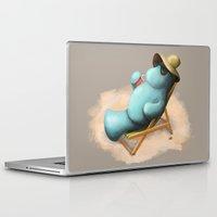 manatee Laptop & iPad Skins featuring Manatee  by Jamie Bechtel