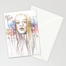 Meditation, watercolor  Stationery Cards