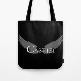 Castiel with Wings White Tote Bag