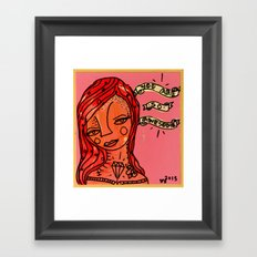 You are so awesome! Framed Art Print