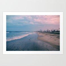 Rainy Day at the Beach Art Print