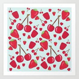 Fruit Salad - Red Berries Art Print