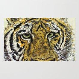 Green Eyed Tiger Animal Art Rug