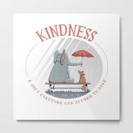 Cute Kindness Elephant Dog Anti Bullying Metal Print