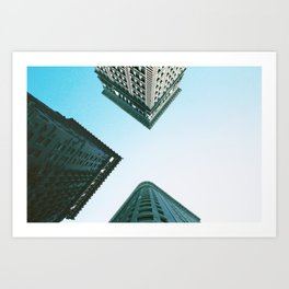 View from 4th and Wood in Pittsburgh, PA Art Print