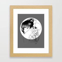 ANGST IN MY VEINS. Framed Art Print