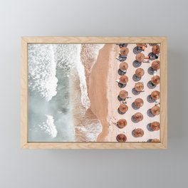 Aerial Beach Print, Beach Photography, Aerial Photography, Blue Ocean Print, Sea Beach Print Framed Mini Art Print