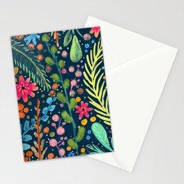 les prairies (navy) Stationery Cards