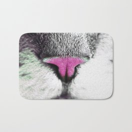 The Nose of the Cat Bath Mat