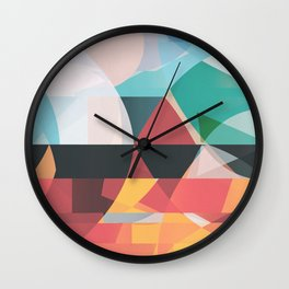Between Fire and Air Wall Clock