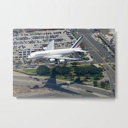 A380 arrival Metal Print
