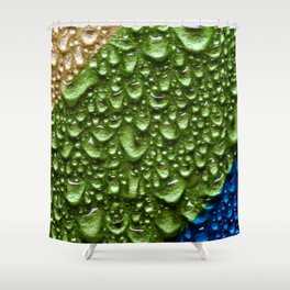 Abstract Colorful Wet Paper 02 Shower Curtain